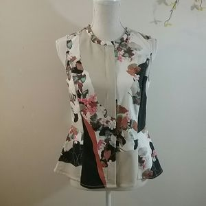 3.1 Phillip Lim for Target Floral Peplum  Blouse